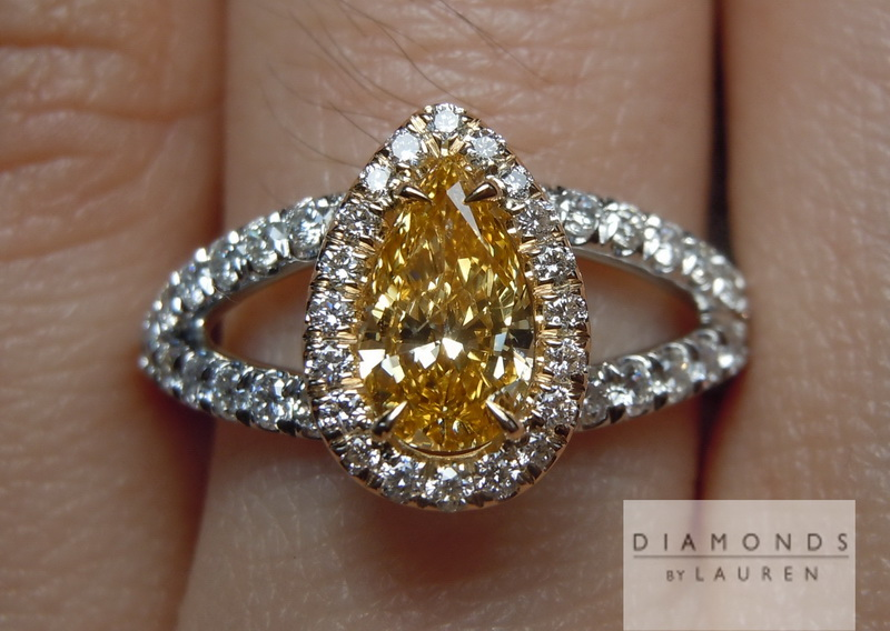 pumpkin diamond ring