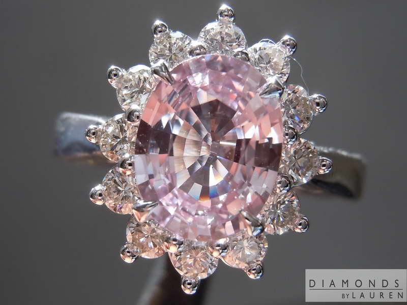 pale pink sapphire ring