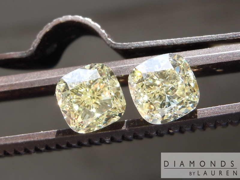 canary diamond earrings
