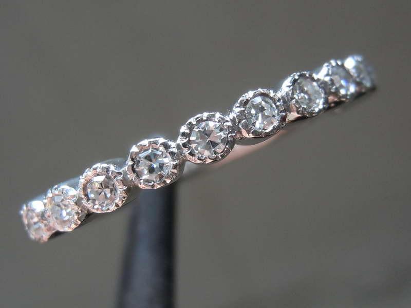 single cut diamond ring