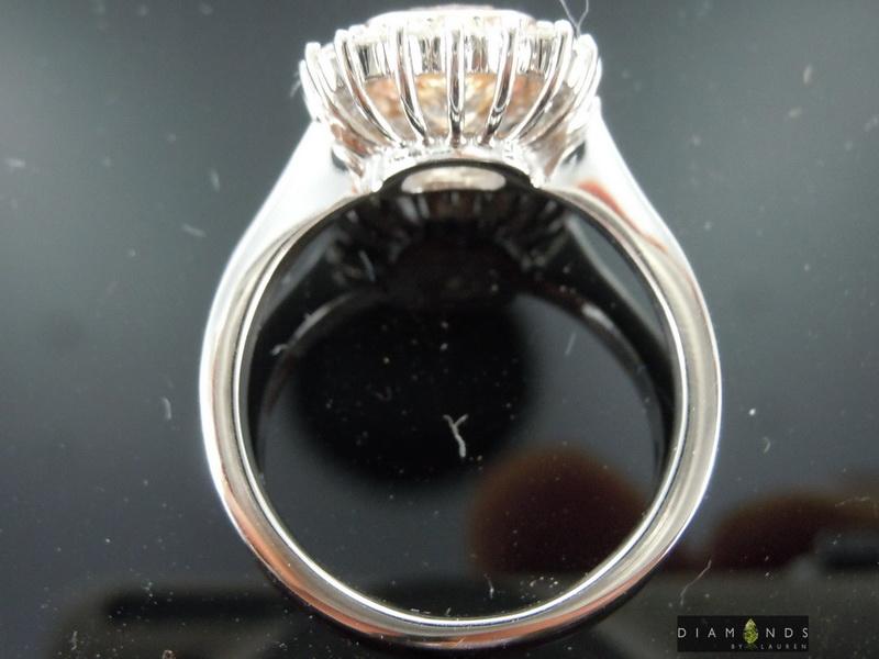 light brown diamond ring