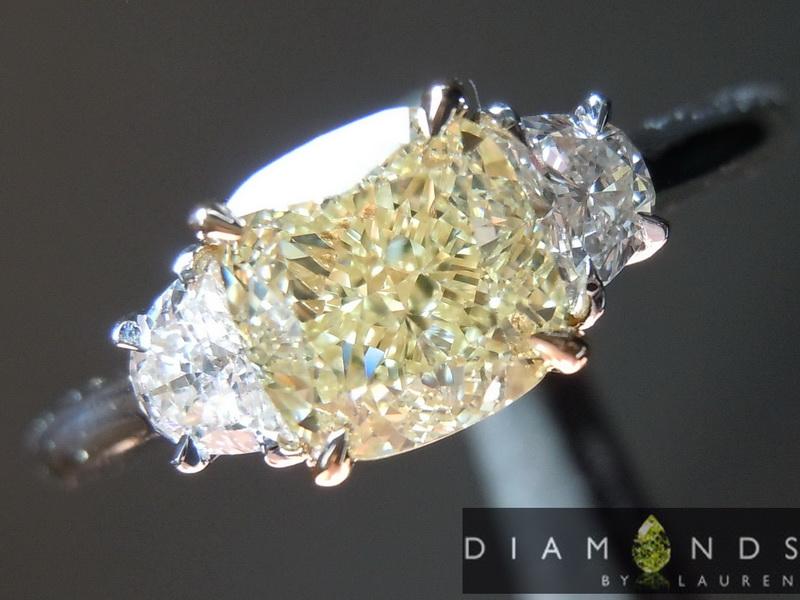 natural yellow diamond ring