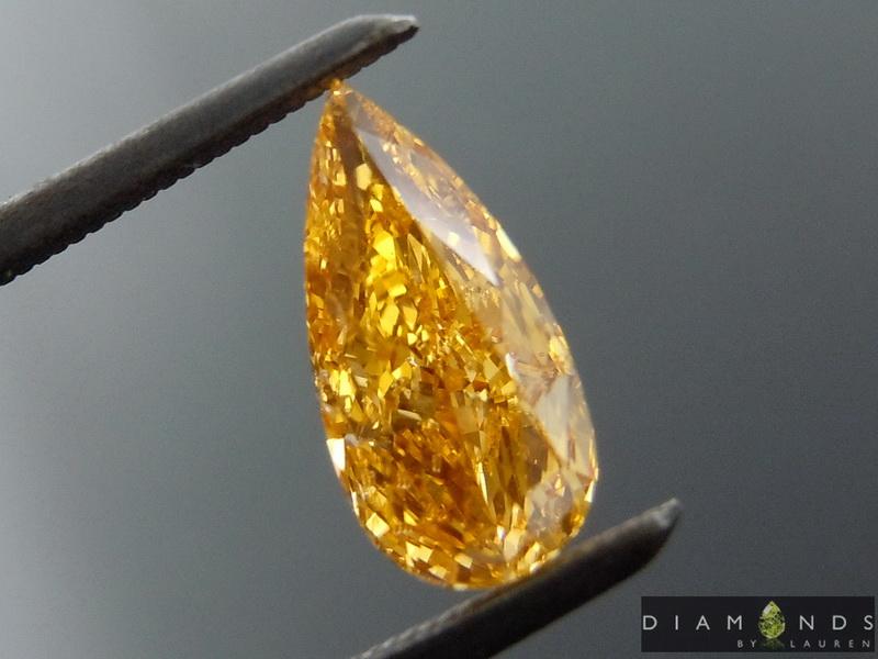 natural orange diamond