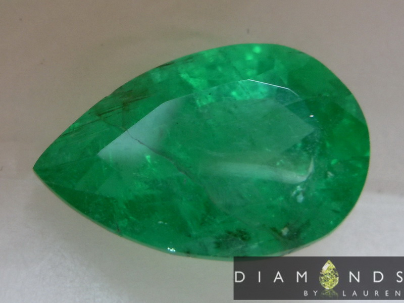 natural pear emerald