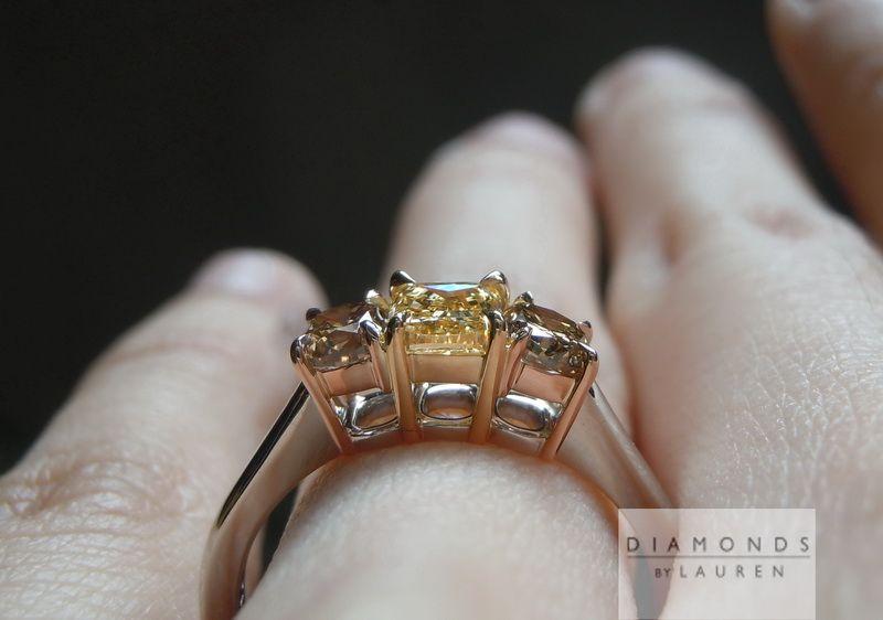 pumpkin diamond ring