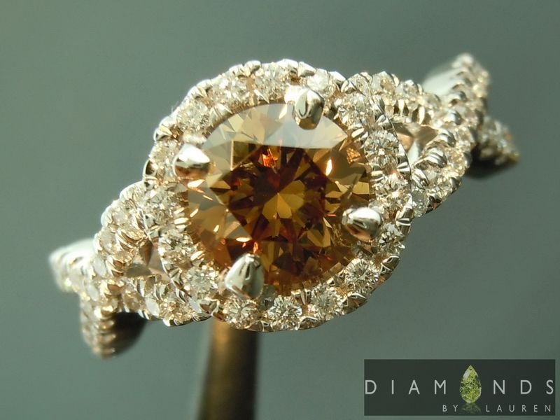 natural brown diamond ring