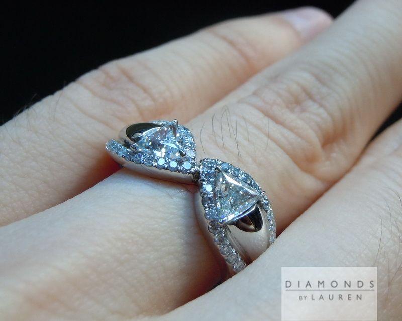 colorless diamond ring