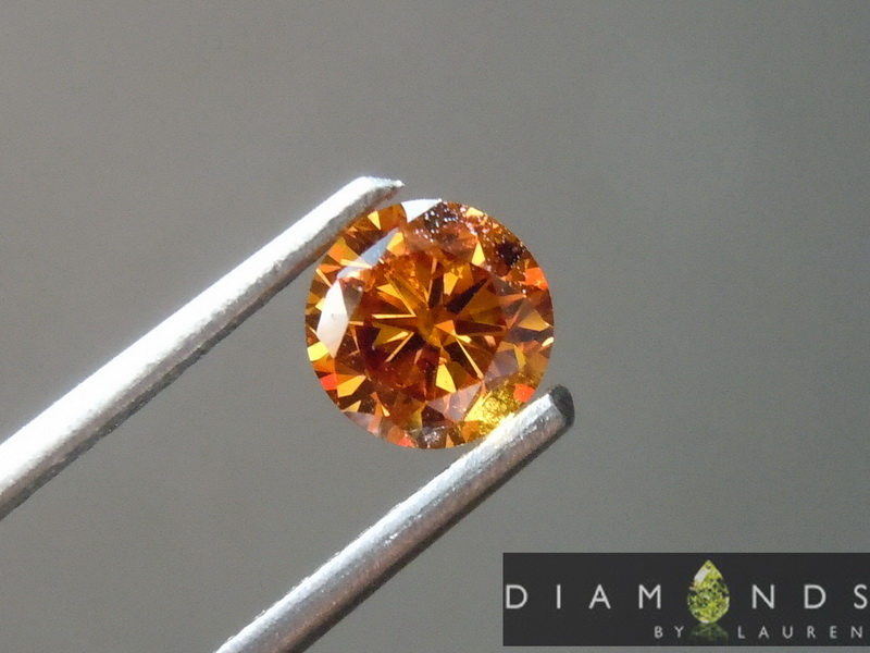 natural orange diamond
