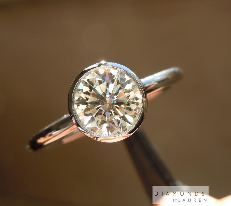 natural colorless diamond ring