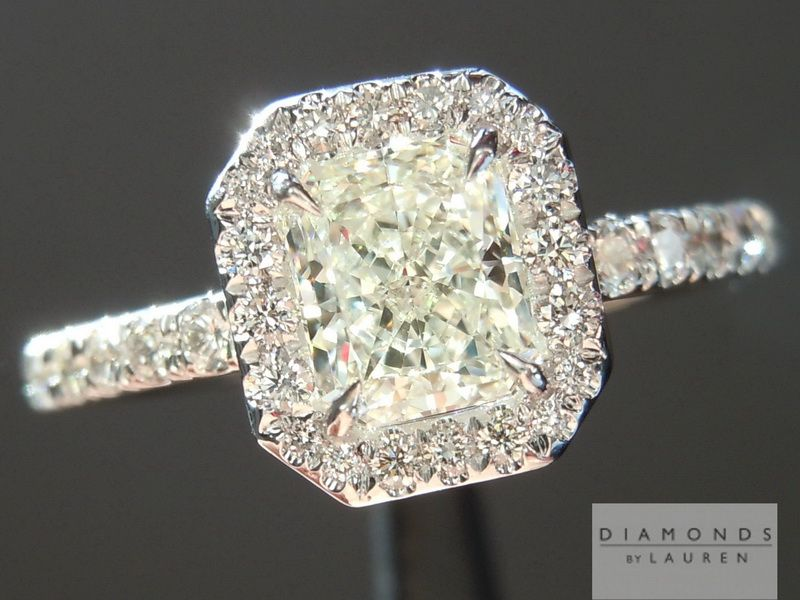 natural colorless diamond ring