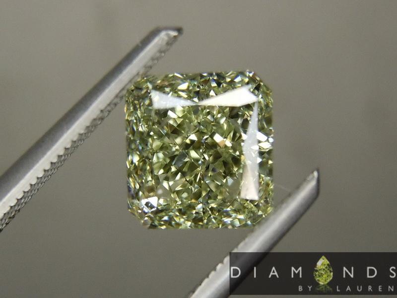 natural green diamond ring