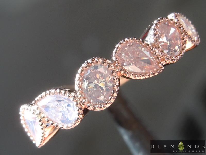 fancy white diamond ring