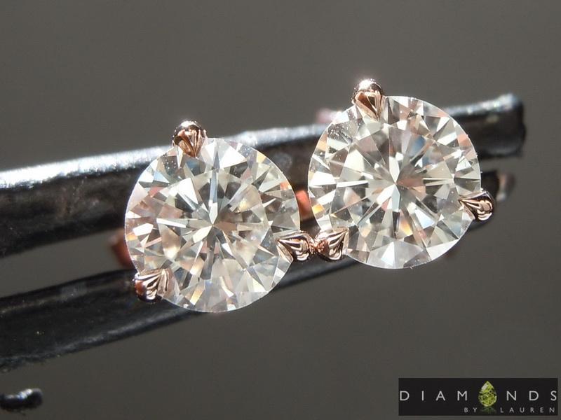 completley colorless diamond earrings