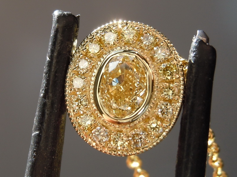 natural yellow diamond pendant