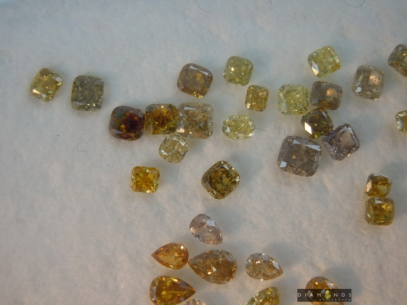 mix color diamond parcel