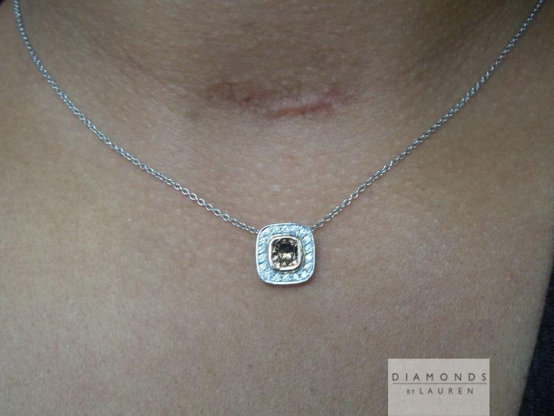natural brown diamond pendant