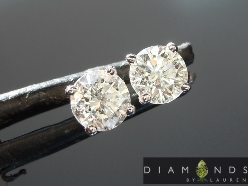 colorless diamond earrings