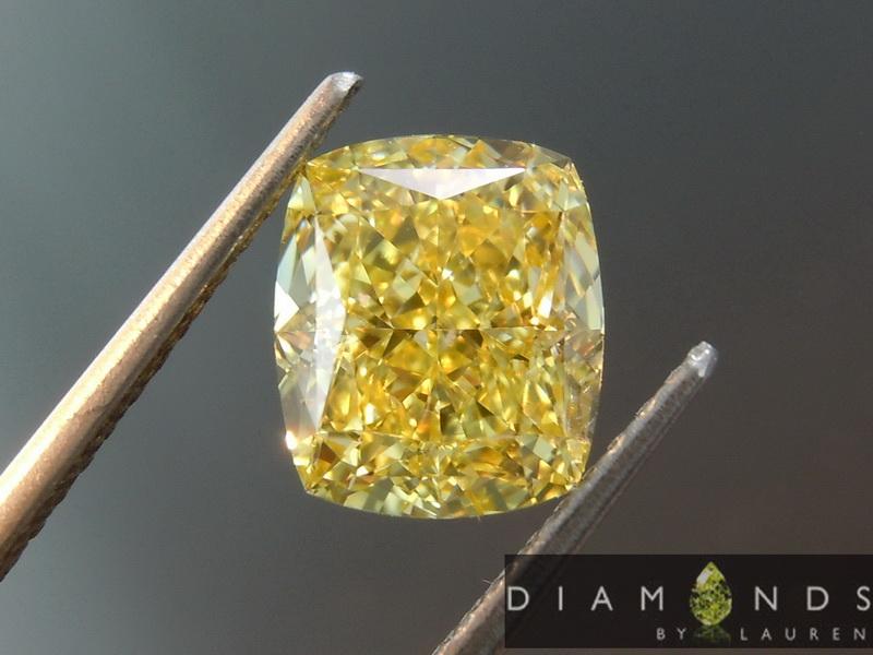 intense yellow diamond