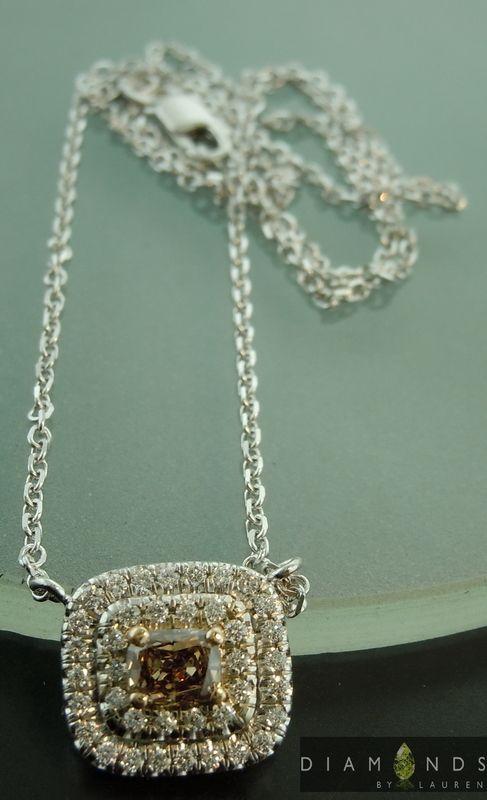 brown diamond pendant