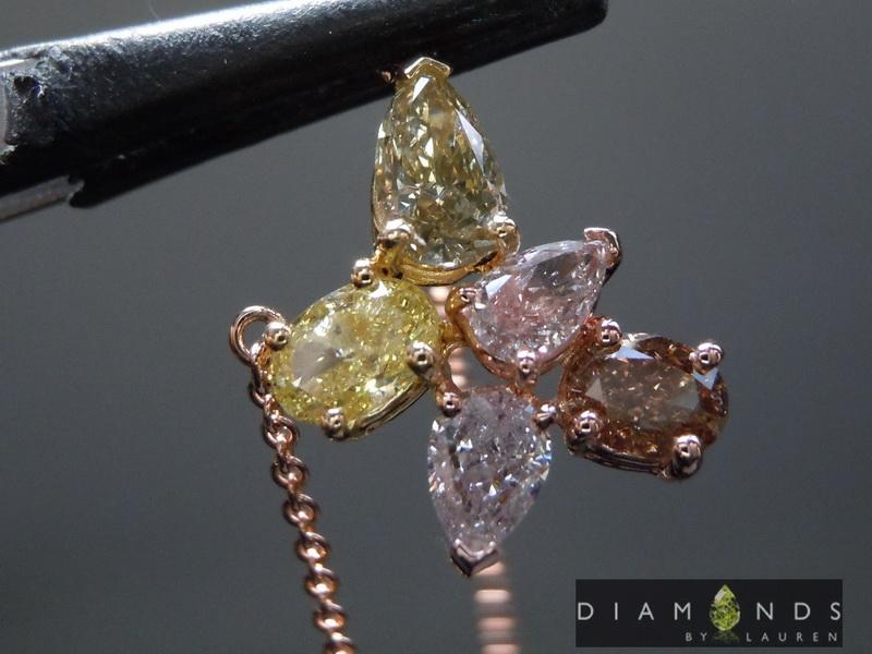 mixed diamond pendant