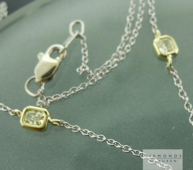 natural yellow diamond necklace
