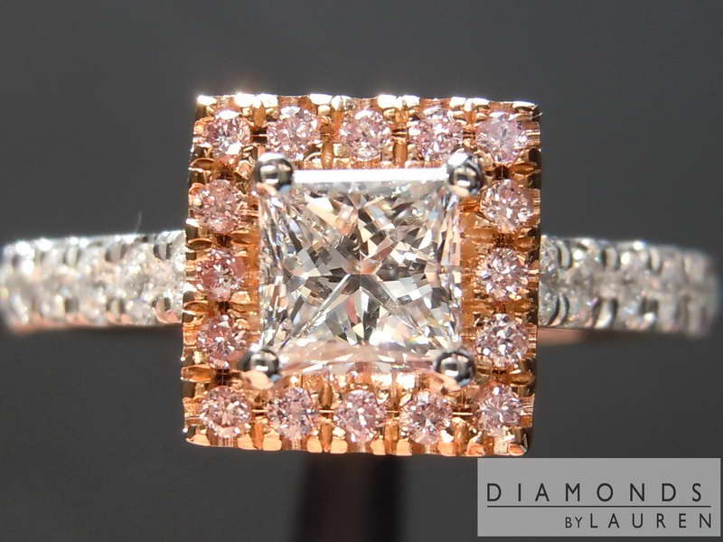 completely colorless diamond ring