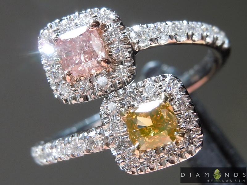 natural pink diamond ring