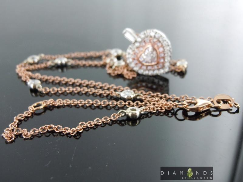 natural pink diamond necklace
