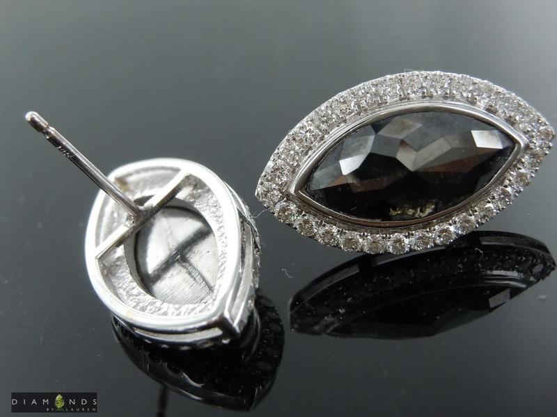 natural black diamond earrings