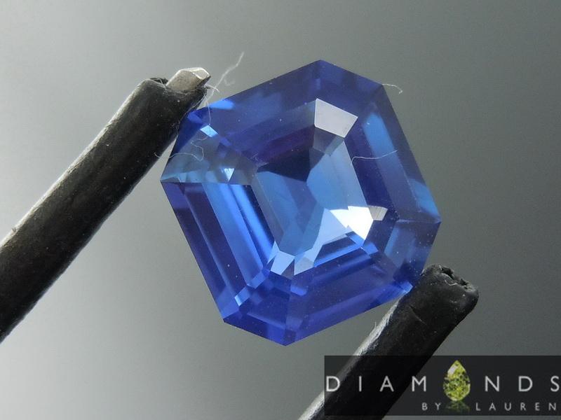 heated blue sapphire
