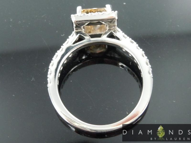 brown diamond ring
