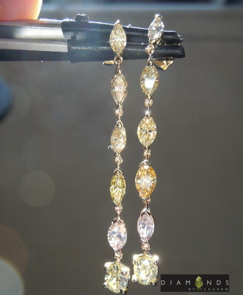 natural pink diamond earrings