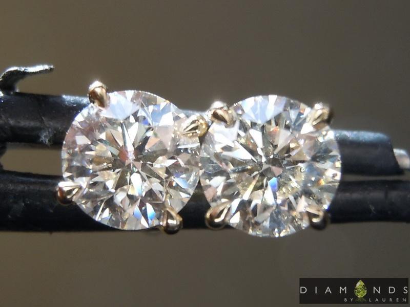 near colorless diamond earrings