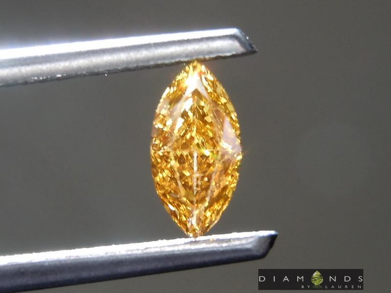 intense orange diamond