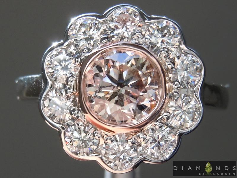natural purple diamond ring