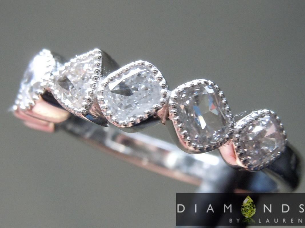 natural gray diamond ring