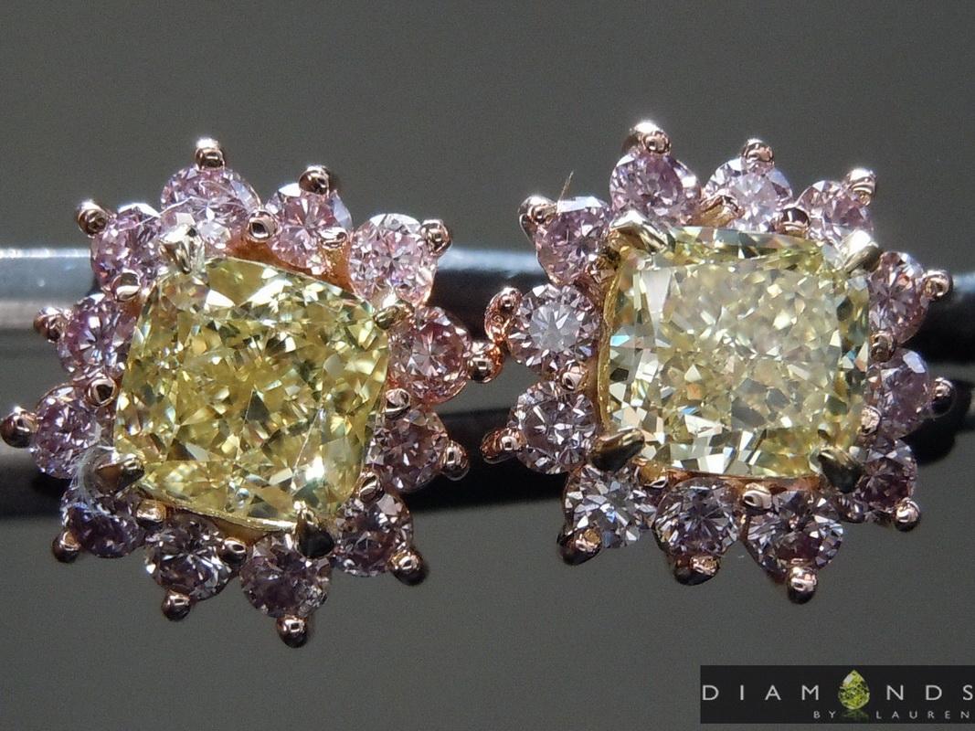 pink lemonade diamond earrings