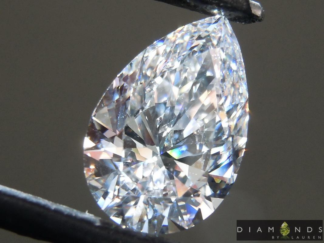 colorless lab grown diamond