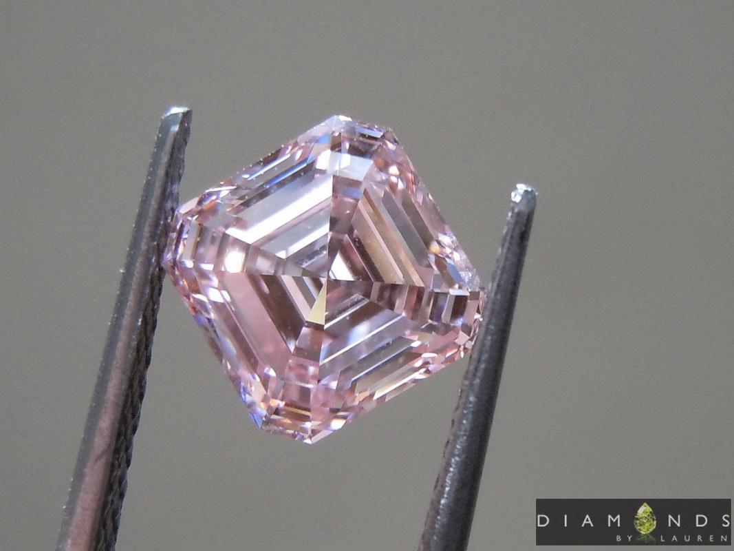 pink lab grown diamond