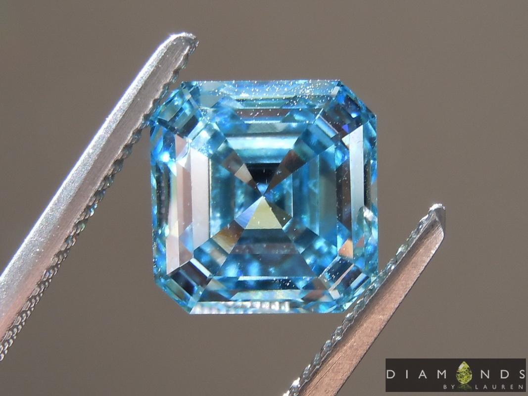 lab blue diamond