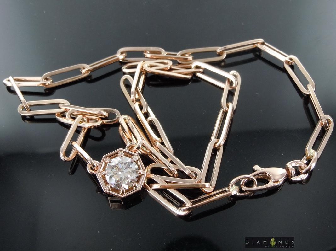 lab diamond necklace