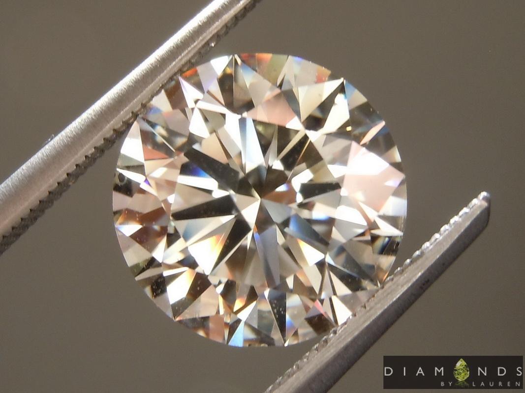 lab colorless diamond ring