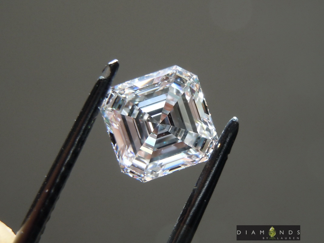 colorless lab grown diamond