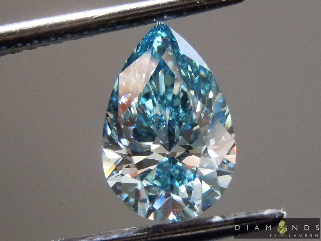 blue lab grown diamond