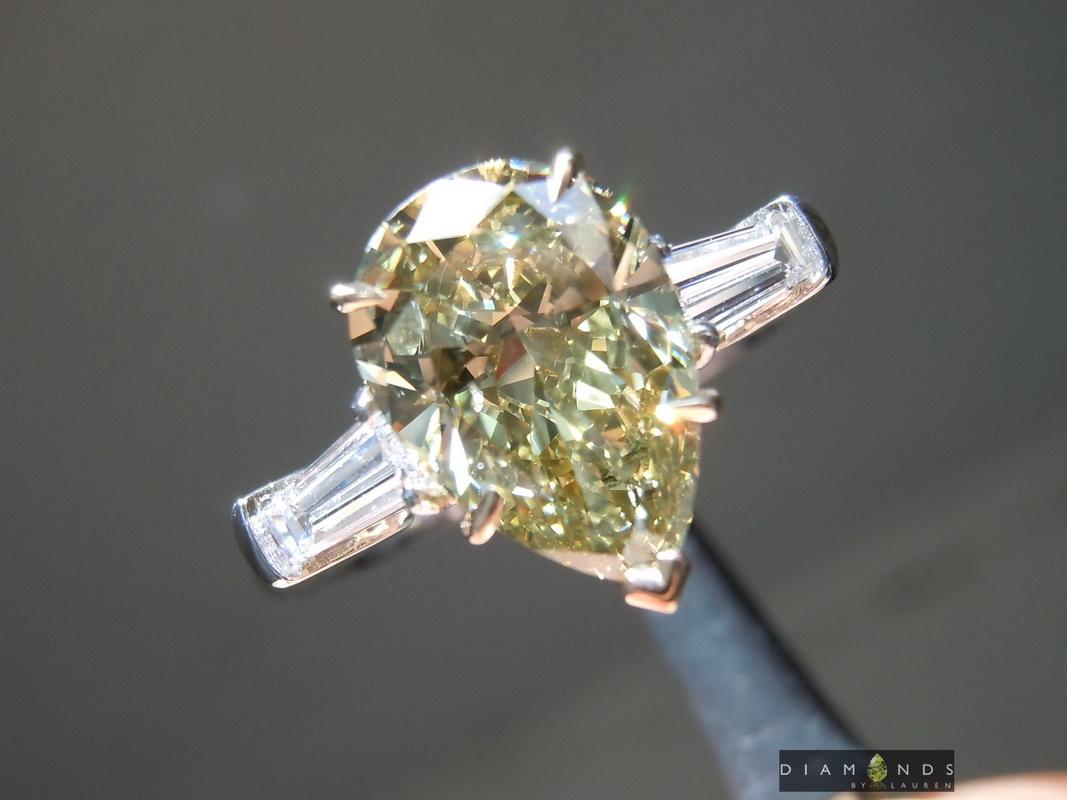 gia green diamond ring