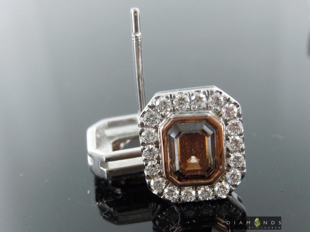 brown diamond earrings