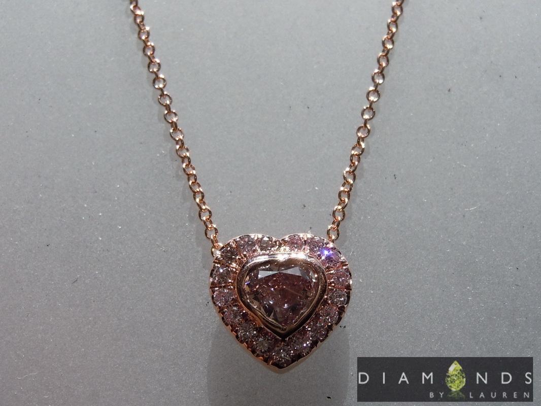 natural purple diamond necklace