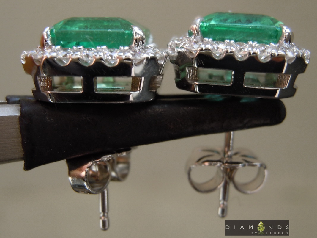 african emerald earrings