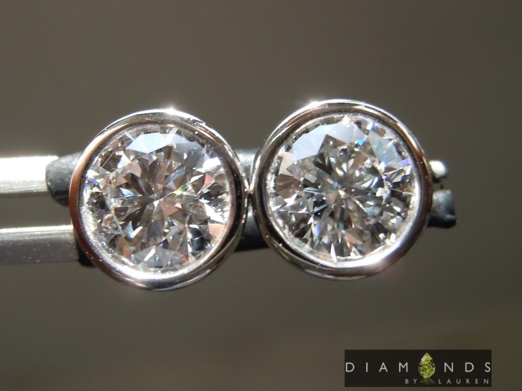 lab diamond earrings