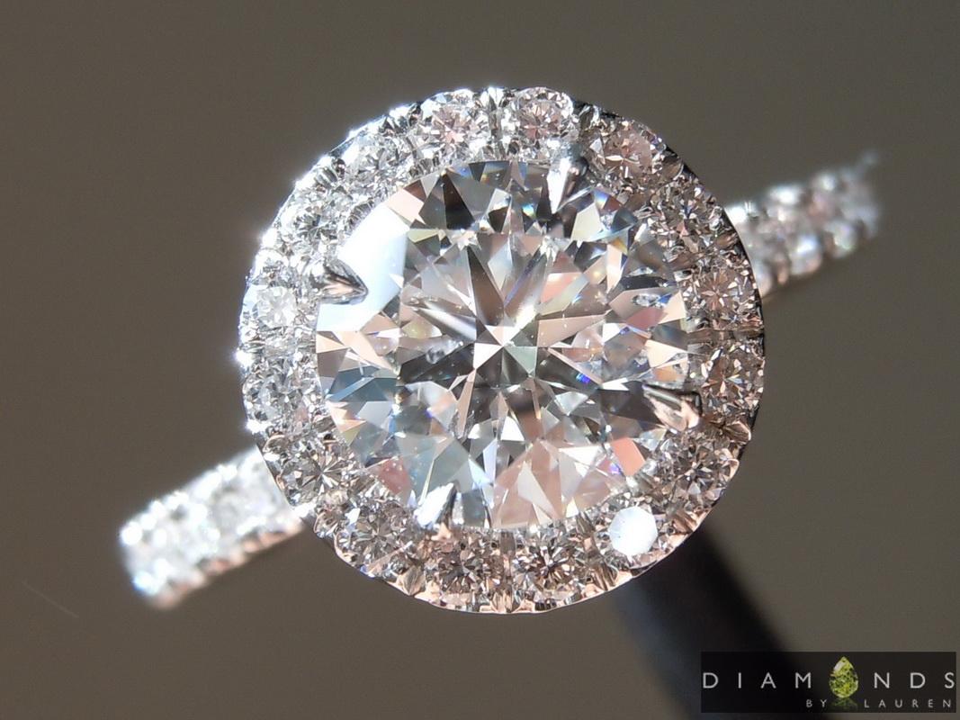 colorless lab grown diamond ring